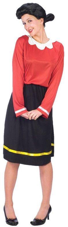 Costumes! Lic Popeye's Traditional Olive Oyl Costume Set Small--Medium Sz 8-14 #FW #oliveoyl