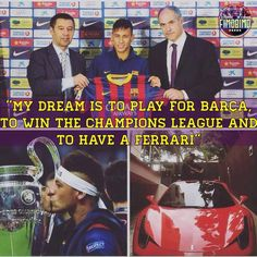 Neymar in 2011..Dreams do come true.