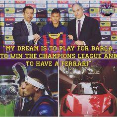 Neymar in 2011..Dreams do come true.
