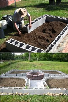 28 Best DIY raised bed gardens: easy tutorials, ideas & designs to build raised beds or vegetable & flower garden box planters with inexpensive materials! – A Piece of Rainbow backyard, landscaping, gardening tips, - 28 Amazing DIY Raised Bed Gardens Garden Yard Ideas, Diy Garden Projects, Garden Boxes, Garden Planters, Diy Garden Box, New Build Garden Ideas, Cool Garden Ideas, Diy Garden Ideas On A Budget, Inexpensive Backyard Ideas