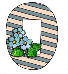 ArtbyJean - Paper Crafts: Alphabet set A to Z ... No numbers. - Stripes and Blossoms.