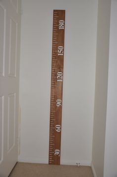 Ruler Wooden Growth Chart - metric measurements.