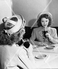 awesome Shirley Temple enjoying a coke cool candid mirror shot photo 561-12