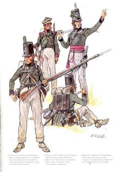 Regiment (Rifles), Spain, ca 1809 British Army Uniform, British Uniforms, British Soldier, Military Art, Military History, Military Uniforms, Battle Of Waterloo, Waterloo 1815, Marina Real