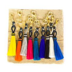 KEMPTON & CO Tassel Key Ring Assorted Colors