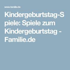Kindergeburtstag-Spiele: Spiele zum Kindergeburtstag - Familie.de