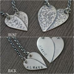 """You're always in my heart"" necklace"