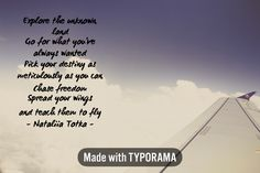 Instantly created using #typorama