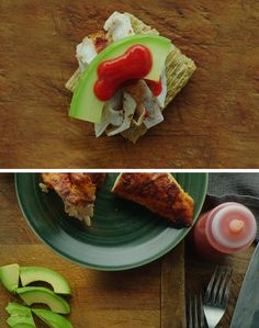 Avochickirachascuit. Loaded with flavor from shredded chicken, creamy avocado, and spicy sriracha all topped on a Triscuit cracker. It's a delicious alternative for a light meal or appetizer. Your mouth will thank you later. For more snacking inspiration, check out our Triscuit boards.