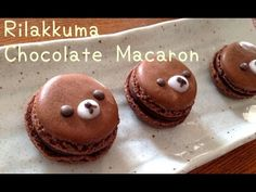 Chocolate macarons or Rilakkuma macarons ♡ リラックマチョコレートマカロンの作り方 レシピ - YouTube