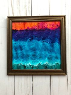 Sea Sea Glass Art, Glass Wall Art, Framed Art Sets, Seashell Art, Beach Wall Art, Coastal Art, Window Art, Resin Art, Color Pop