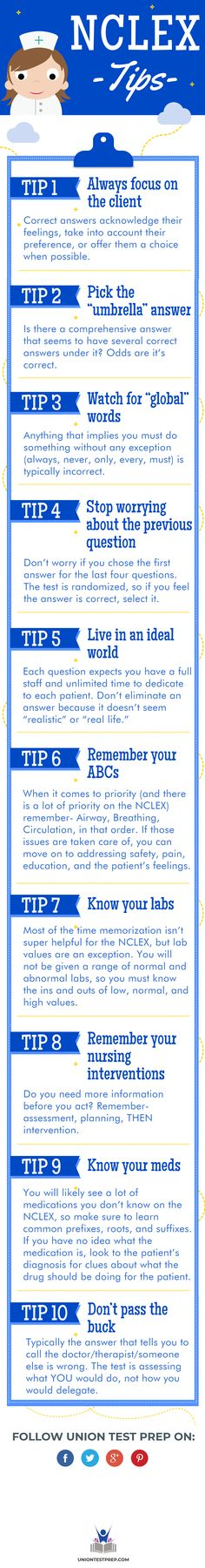 The NCLEX is intimidating, but you can pass it on the first try! Here are 10 tips that will help you successfully conquer the NCLEX-RN. Nursing Student Tips, College Nursing, Nursing Tips, Nursing Notes, Nursing Students, Nursing Board, Rn Nurse, Nurse Life, Nurse Humor