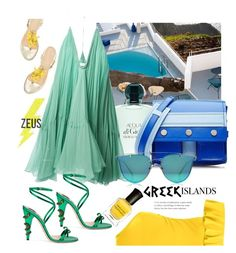 """Greekvery"" by felicitysparks ❤ liked on Polyvore featuring Kenzo, Chloé, Gucci, Boohoo and Deborah Lippmann"
