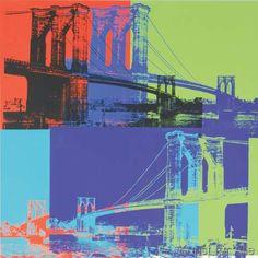 Andy+Warhol+-+Brooklyn+Bridge,+1983+(orange,+blue,+lime)