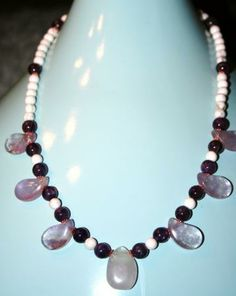 Amethyst with white Howlite necklace by Amaya2shoval for $50.00