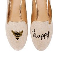 * bee happy print flats *