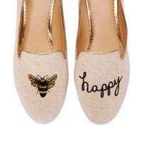 * bee happy print flats *