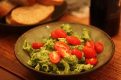 Swiss Chard Pesto 1 bunch swiss chard (around 7 ounces), leaves removed, stems discarded or saved for another use 2 cloves garlic, peeled 1/4 cup grated queso añejo, or grated parmesan 1/2 cup pine nuts or pumpkin seeds 1/4 cup olive oil — possibly a little more if you're using the pumpkin seeds