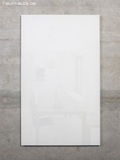 Magnetic glass wall MAX 50x30 cm white - space-look store