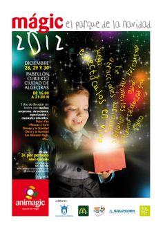 Nuestra Navidad, nuestro Festival Navideño 2012, cartel realizado por nuestro amigo Yayo Lopez, precioso cartel que marca un antes y un despues de Animagic en Navidad.
