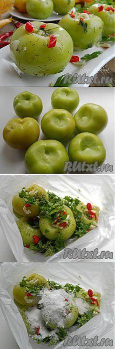 Способ засолки зеленых помидоров (рецепт с фото) | RUtxt.ru