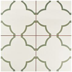 "EliteTile Cumulus 17.63"" X 17.63"" Ceramic Field Tile in Cream 