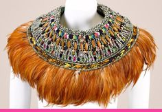 iLoveAnkara: Anita Quansah: The curator of Afro-Opulence Jewelry Art, Fashion Jewelry, Jewellery, A Level Textiles, Feather Fashion, African Textiles, Confident Woman, Neck Piece, Statement Jewelry