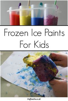 These fun frozen paints are super simple to make and great for messy play. Find out the best way to make frozen glitter paints too!