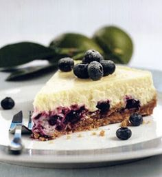 torta de queso de arandanos frescos