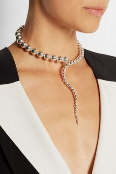 PAULA MENDOZA Glaucus silver-plated necklace $698.09