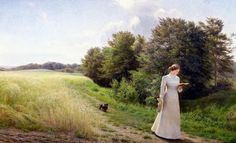 Lady in white reading by Emilie Mundt