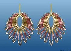 Video lesson on beaded earrings (russian site) BEAD ANIMATION I love this - makes it SO easy to understand!