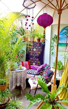 Picking the Perfect Outdoor Patio Decoration – Outdoor Patio Decor Bohemian House, Bohemian Patio, Bohemian Decor, Bohemian Style, Outdoor Rooms, Outdoor Living, Outdoor Decor, Boho Dekor, Decoration Inspiration