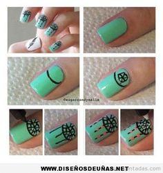 Ver diseño de uñas fáciles tutorial | Te enseñaremos a decorar tus uñas con los diseños de uñas mas bonitos.