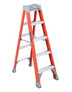 This Louisville 7 ft. non-conductive fiberglass step ladder has a load capacity of 375 lbs. This ladder is equipped with the innovative Raptor top with magnet and multiple tool slots, Folding Ladder, Attic Ladder, Multi Purpose Ladder, Best Ladder, Aluminium Ladder, Household Chores, Types Of Flooring, Paint Cans, Home Repair