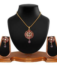 Buy pink Diamond pendants Pendant online