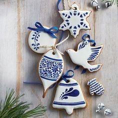 Beautiful Blue and White Christmas