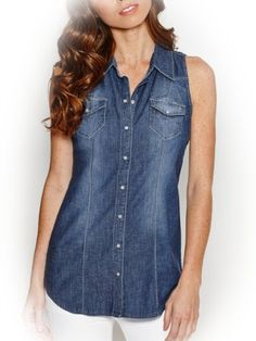 G by GUESS Women's Maelie Denim Tunic (Click The Image To Buy It)