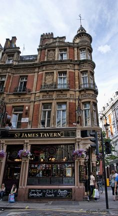 St James Tavern in London in Soho -- in the heart of the theater district.