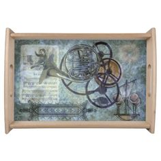 French Horn Steampunk Medley Serving Platters #zazzle