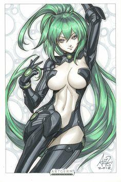 Green Heart by Artgerm   Stanley Lau *