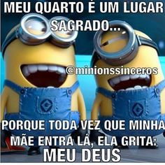 Sagrado ou bagunçado???? Humor Minion, Minions Quotes, Mommy Quotes, Funny Quotes, Funny Memes, Inspiring Quotes About Life, Inspirational Quotes, Disney Memes, Good Jokes