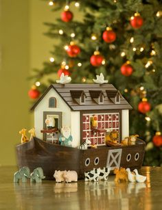 Creatures Great and Small Fill Our Noah's Ark Wooden Advent Calendar