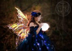 Unique handmade Faery wings. The set in the first photo I make for the price listed are 24 to the farthest point, 3 wings on each side. Other size