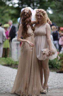 Bridesmaid dress greek goddess