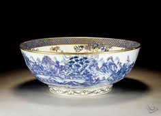 CHINESE PORCELAIN PRODUCTION PUNCH BOWL QING DYNASTY, QIANLONG PERIOD