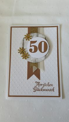 Card to the gold wedding - DIY Gifts Abraham And Sarah, 50th Birthday Cards, Karten Diy, Stamping Up, Diy Cards, Gold Wedding, Wedding Cards, Diy Gifts, Cardmaking