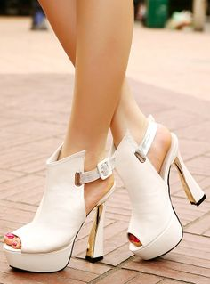 Fish Head High-Heeled Shoes Boots Sandals Roman Style Waterproof Shoes