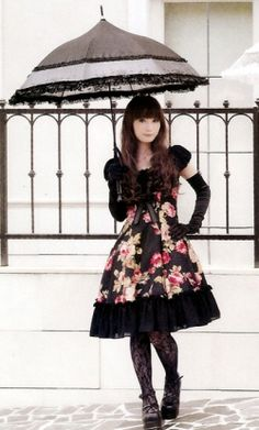 Goth Lolita Dresses Cosplay Costume