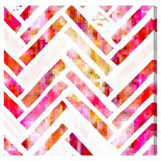 Sugar Flake Herringbone Canvas Art